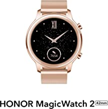 HONOR Magic Watch 2 (42 mm, Sakura Gold) Always On AMOLED Display, SpO2, 15 Workout Modes, Music Playback & In-Built Stora...
