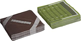 Hammont Football Theme Napkins Tableware -Football Party Supplies Perfect for Superbowl, Tailgating, Birthday Parties, Family Dinner and Game Day(80 Pack)