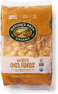 Sponsored Ad - Nature's Path Honey'd Corn Flakes Cereal, Healthy, Organic, Gluten-Free, 26.4 Ounce (Pack of 6)