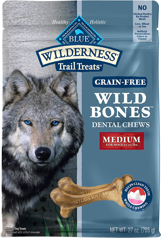 Max 74% OFF Very popular Blue Buffalo Wilderness Wild Bones Grain Chews Dog T Dental Free