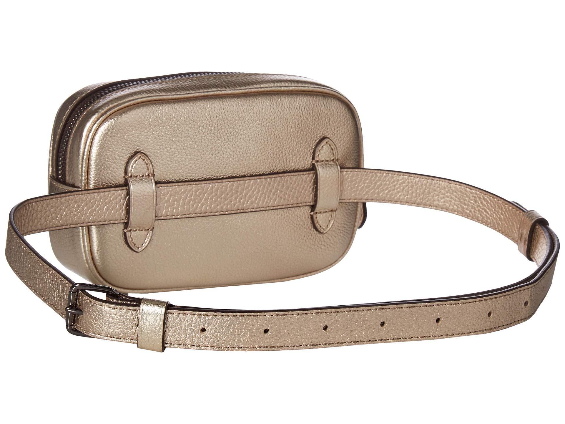 Bag platinum Coach Dressy Metallic Gm Leather Belt Fcvcr07