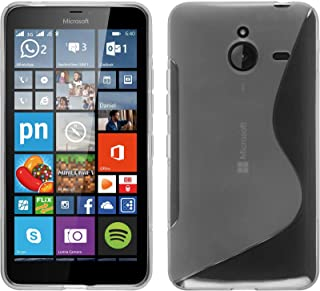 PhoneNatic Silicone Case Compatible with Microsoft Lumia 640 XL - S-Style Transparent Cover + Protective foils