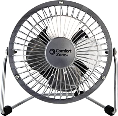 "CCC COMFORT ZONE 4"" High Velocity Desk top Fan, 4"" Adjustable Cradle, Assorted"