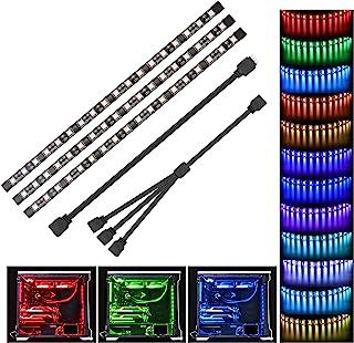 LED PC Tira - Speclux RGB Led Strip para caja de PC modding, control de la placa base, 12V 4pin RGB, compatible con Asus A...