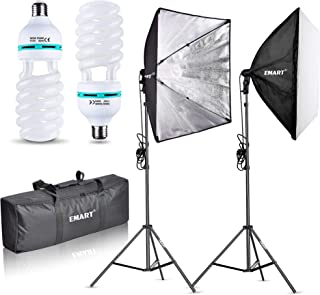 Emart 1000W Softbox Lighting Kit Photography Continuous Photo Studio Light System for YouTube Video Shooting Soft Box 24