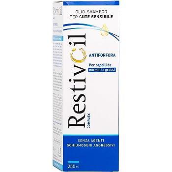 RestivOil Complex Shampoo Antiforfora per Capelli, Olio Fisiologico con Azione Antiseborroica e Anti Prurito, per Capelli da Normali a Grassi, 250 ml
