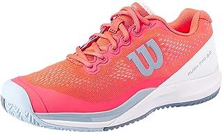 WILSON Women's Rush Pro 3.0 All Court Tennis Shoe Women's Tennis Shoe, Fiery