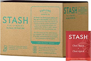 Stash Tea Chai Spice Black Tea 100 Count Box of Tea Bags in Foil