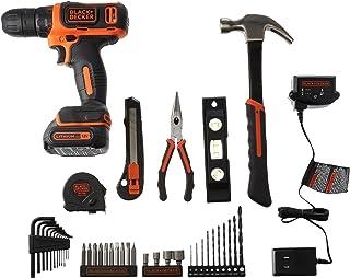 BLACK+DECKER - Kit de herramientas para el hogar (12 V, 42 unidades)