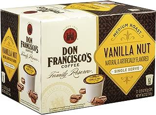 Don Francisco's Vanilla Nut, Premium 100% Arabica, Flavored, Medium-Roast, Single-Serve Pods for Keurig, 12-Count, Family Reserve