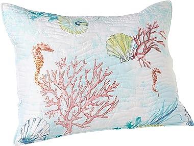 Barefoot Bungalow Sarasota Pillow Sham, Standard, Seafoam