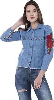 MONTREZ Full Sleeve Applique Women's Denim Jacket