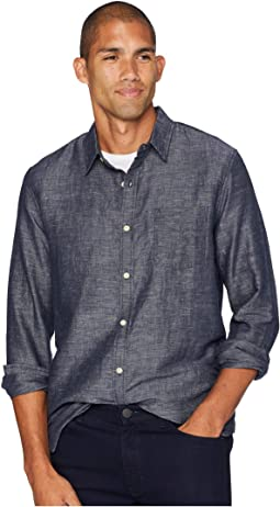 Long Sleeve One-Pocket Ballona End on End Shirt