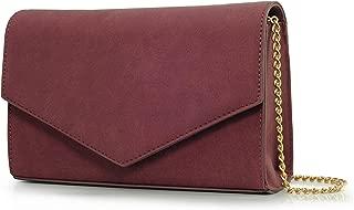 Minimalist Evening Envelope Clutch Chain Shoulder Bag Women Faux Leather Suede Purse