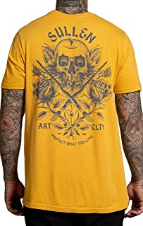 Sullen Men's Deathless Short Sleeve Premium T Shirt Mustard Yellow