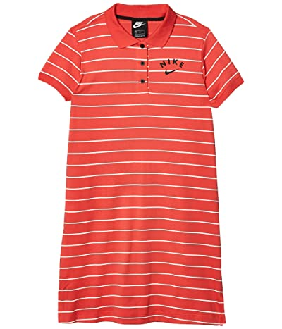 Nike Kids NSW Dress Polo (Little Kids/Big Kids) (Track Red/Black) Girl