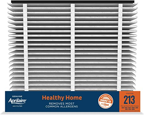 Aprilaire - 213 A4 213 Replacement Air Filter for Whole Home Air Purifiers, Healthy Home Allergy Filter, MERV 13 (Pac...
