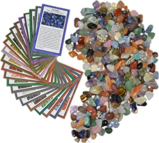 Fantasia Materials: Tumbled Stone Mix with Cards - Giant Variety 2 lb Lot - Standard Pack TS-2CRD-XXS