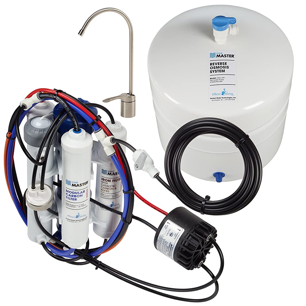 Home Master TMULTRA-ERP-L with Permeate Pump Loaded Undersink Reverse Osmosis Water Filter System