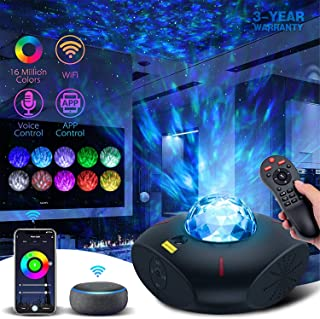 Lacoco Galaxy Projector Star Projector Galaxy Light with Bluetooth Music Speaker and Remote Control Work with Alexa Google...