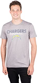 Ultra Game NFL Los Angeles Chargers Men's T-Shirt Athletic Quick Dry Active Tee Shirt, X-Large, Gray