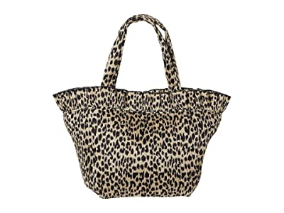 Loeffler Randall Claire Nylon Canvas Tote (Leopard 1) Handbags