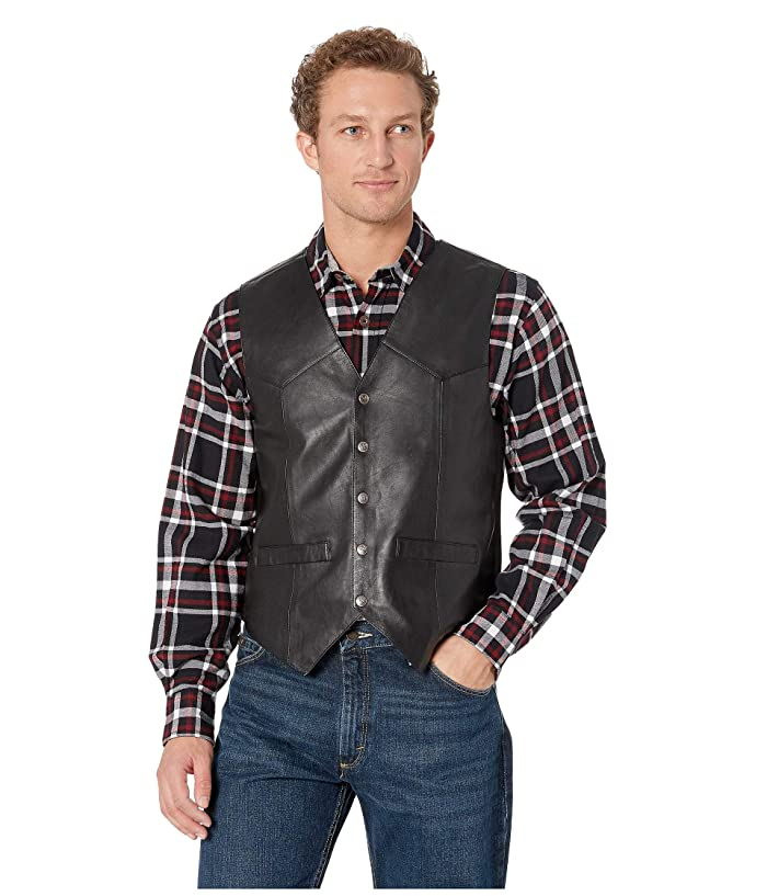 Scully  Leather Vest (Black) Mens Jacket