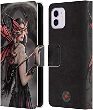 Official Anne Stokes Spellbound Dragon Friendship Leather Book Wallet Case Cover Compatible for iPhone 11