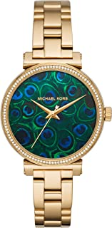 Michael Kors Women's Sofie Analog-Quartz Watch with Stainless-Steel-Plated Strap, Gold, 12.4 (Model: MK3946)