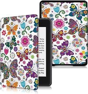 AKNICI 2018年に公開したKindle Paperwhite カバー ケース PUレザー 超薄 軽量 保護カバー スマートケース オートスリープ機能付き マグネット機能搭載 (2018 NEW-Kindle Paperwhiteバージョン適応) (蝶)