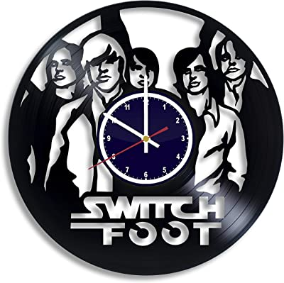 BuhnemoShop Switchfoot Band Handmade Vinyl Record Wall Clock, Switchfoot Logo Wall Poster Unique Kitchen Decor