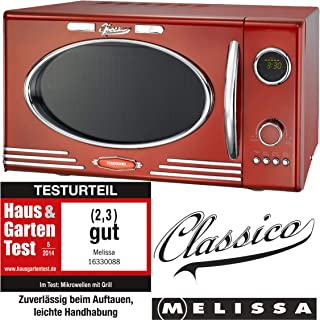 *Adexi Melissa 163-30088 Mikrowelle / 900 W / 25 L Garraum / Design Mikrowelle mit Grill / rot*