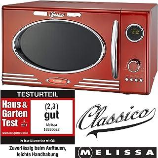 #Adexi Melissa 163-30088 Mikrowelle / 900 W / 25 L Garraum / Design Mikrowelle mit Grill / rot#