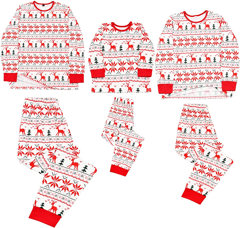 ZiSUGP Christmas Pajamas For Family Xmas Pajamas Pjs Sleepwear Outfits Matching Set(DAD-Multicolor,Size )