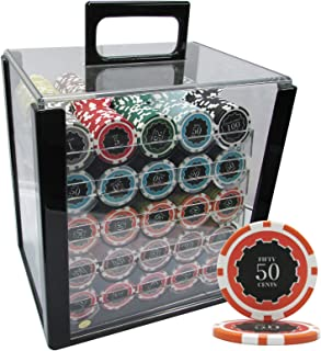 MRC 1000pcs Eclipse Poker Chips Set with Acrylic Case Custom Build