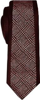 Remo Sartori - Cravatta Slim Stretta Fantasia Principe di Galles, Made in Italy, Uomo