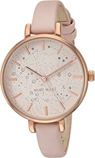 Nine West Women's NW Crystal Accented Strap Watch