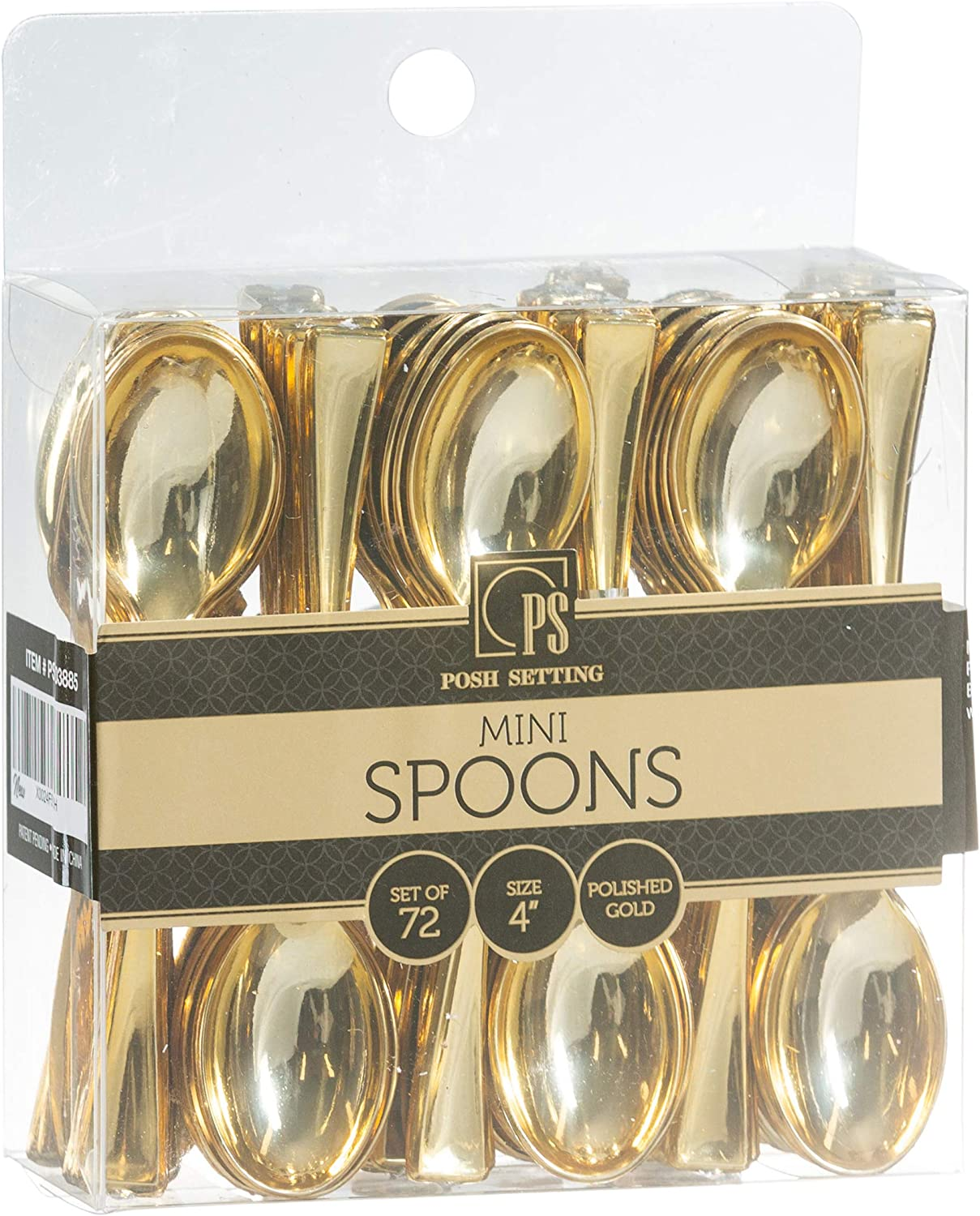 Disposable Plastic Gold Mini Spoons Courier shipping free shipping Tasting 67% OFF of fixed price