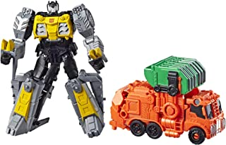 Transformers Toys Cyberverse Spark Armor Grimlock Action Figure - Combines with Trash Crash Spark Armor Vehicle to Power Up - for Kids Ages 6 & Up, 4
