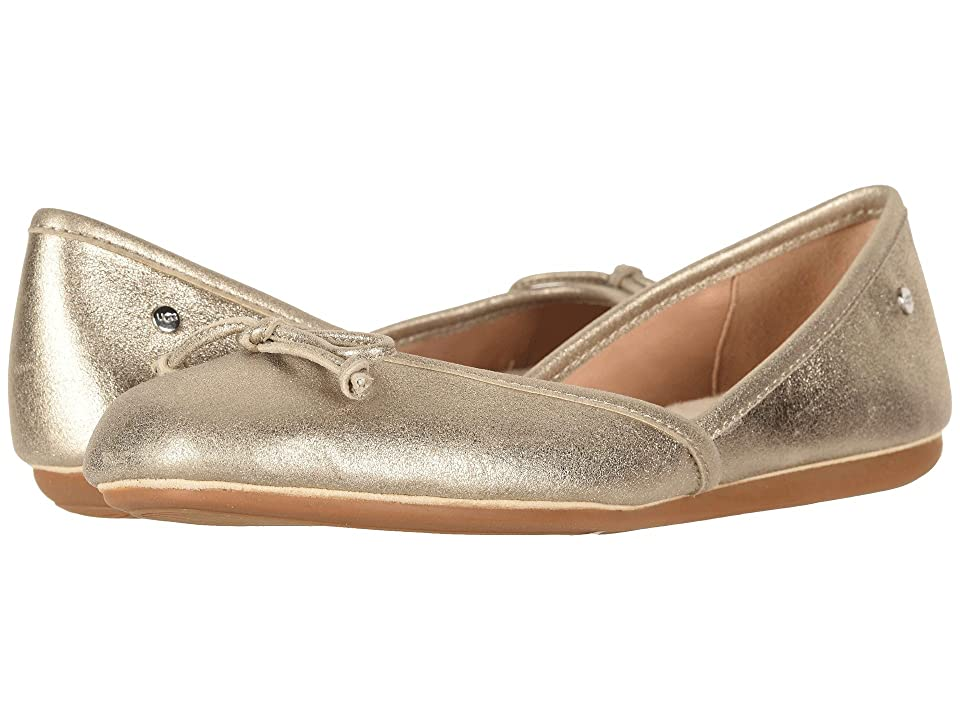 UGG Lena Flat (Gold) Women