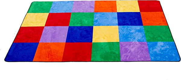 Learning Carpets Colorful Grid Rug Small 5 10 X 8 5