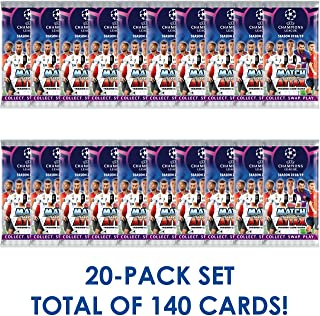 Champions League 2018-19 Topps Match Attax Cards - 20-Pack Set (7 Cards per Pack) (Total of 140 Cards) Look for Superstars Mbappe, Messi, Ronaldo, Neymar, Pogba & More! Ships from USA