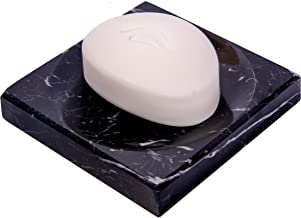 Black Marble Soap Dish - Polished and Shiny Marble Dish Holder ? Beautifully Crafted Bathroom Accessory ? by CraftsOfEgypt
