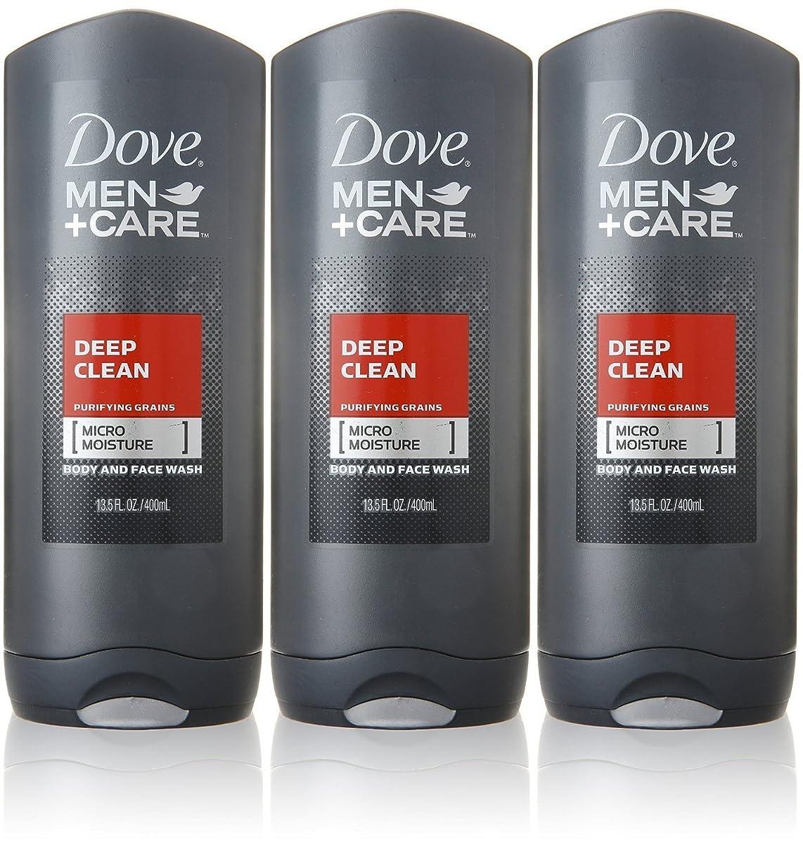 サルベージ挨拶するメタリックDove Deep Clean Mens Body Wash, 13.5 Ounce -- 3 per case. by Dove