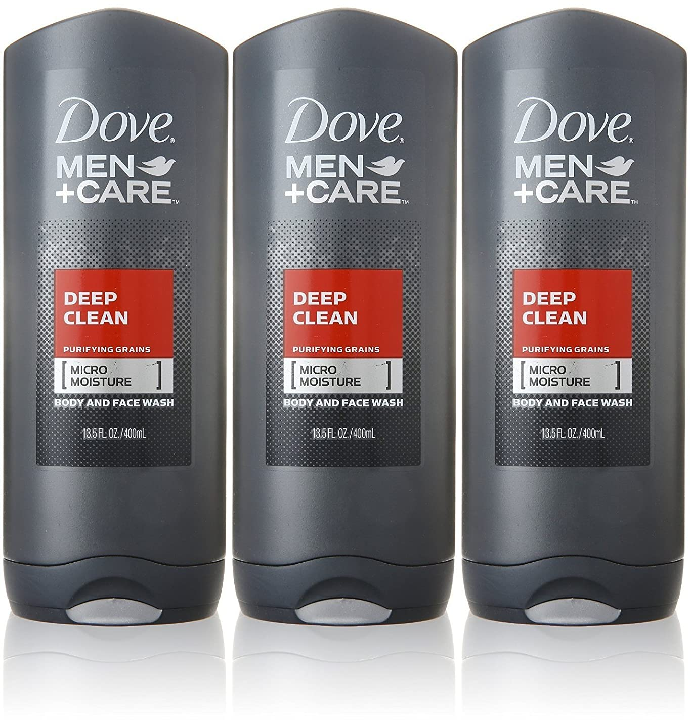 飛ぶ正確な地雷原Dove Deep Clean Mens Body Wash, 13.5 Ounce -- 3 per case. by Dove