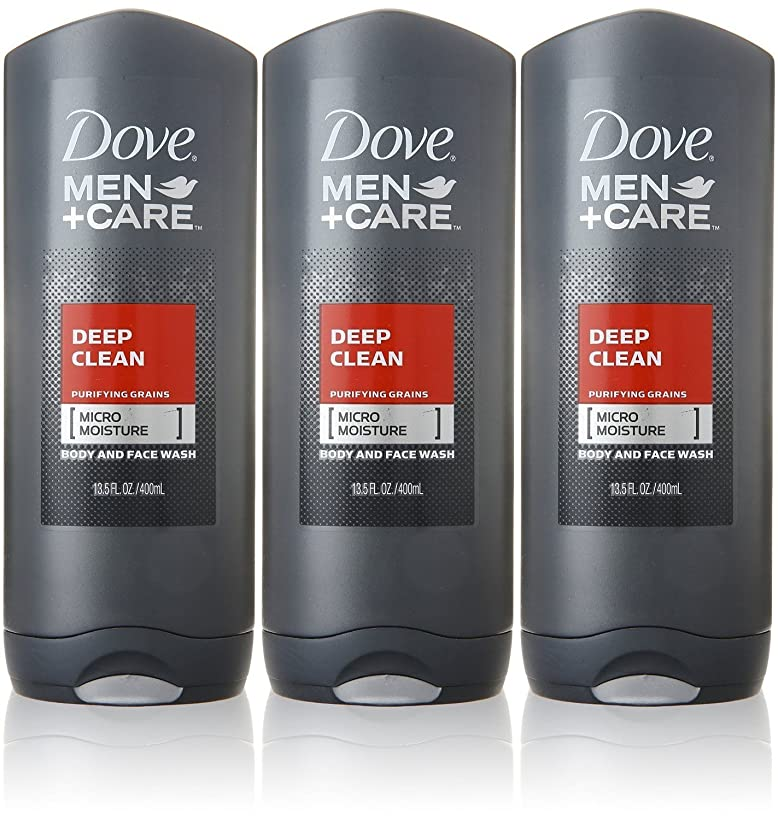 排出アンカー個人的なDove Deep Clean Mens Body Wash, 13.5 Ounce -- 3 per case. by Dove
