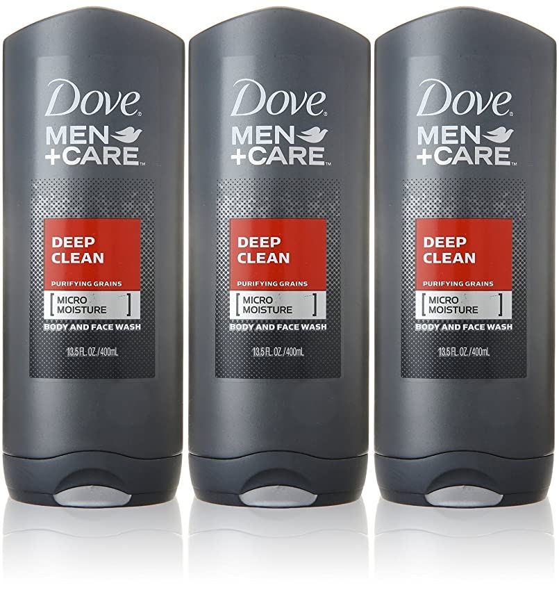 れるダウン拒否Dove Deep Clean Mens Body Wash, 13.5 Ounce -- 3 per case. by Dove