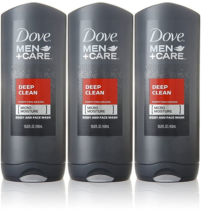 超高層ビル作物太鼓腹Dove Deep Clean Mens Body Wash, 13.5 Ounce -- 3 per case. by Dove