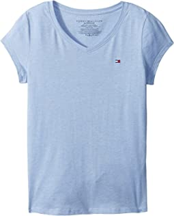 Tommy Hilfiger Kids - Signature V-Neck Tee (Big Kids)