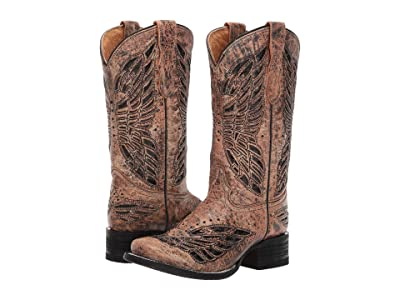 Corral Boots Kids E1296 (Little Kid/Big Kid) (Gold) Cowboy Boots